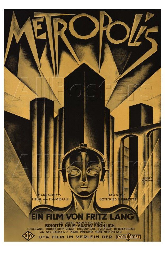 Metropolis German Movie Poster 1926 Photo Allposters Com Metropolis Poster Art Deco Posters Movie Posters Vintage