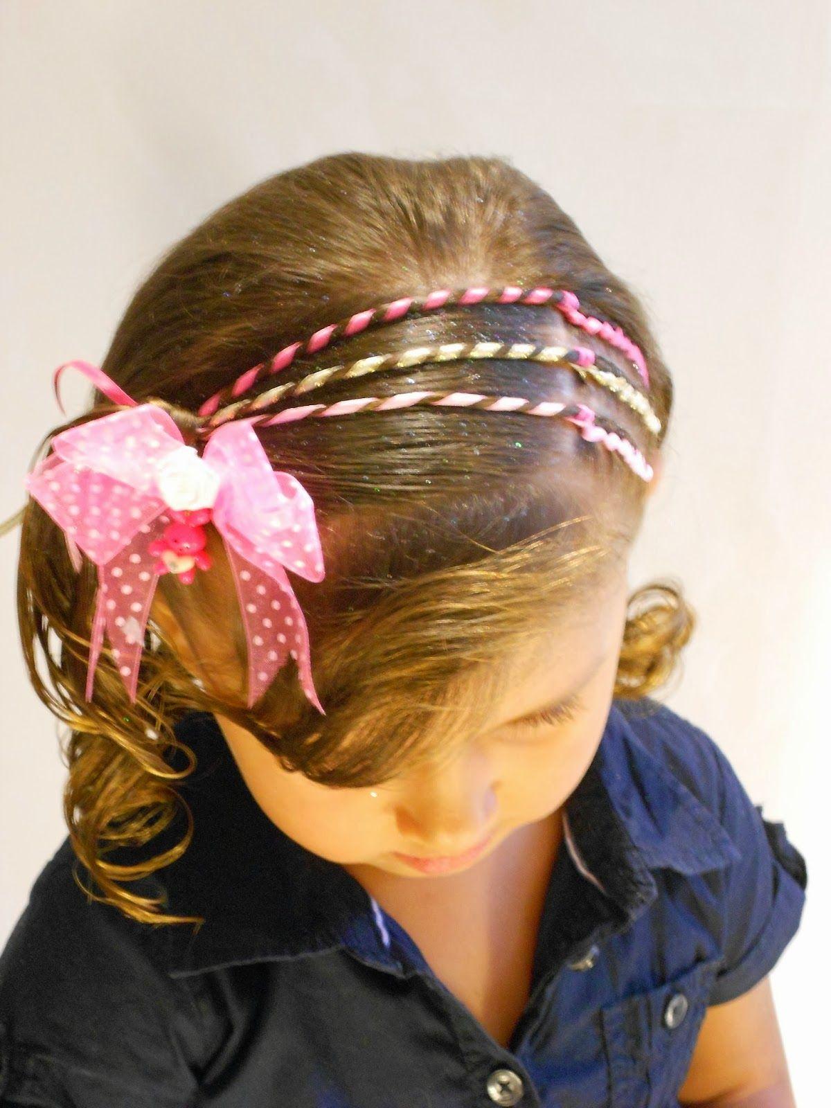 Como hacer peinados para ni a con cintas hacer peinados - Peinados de moda faciles de hacer en casa ...