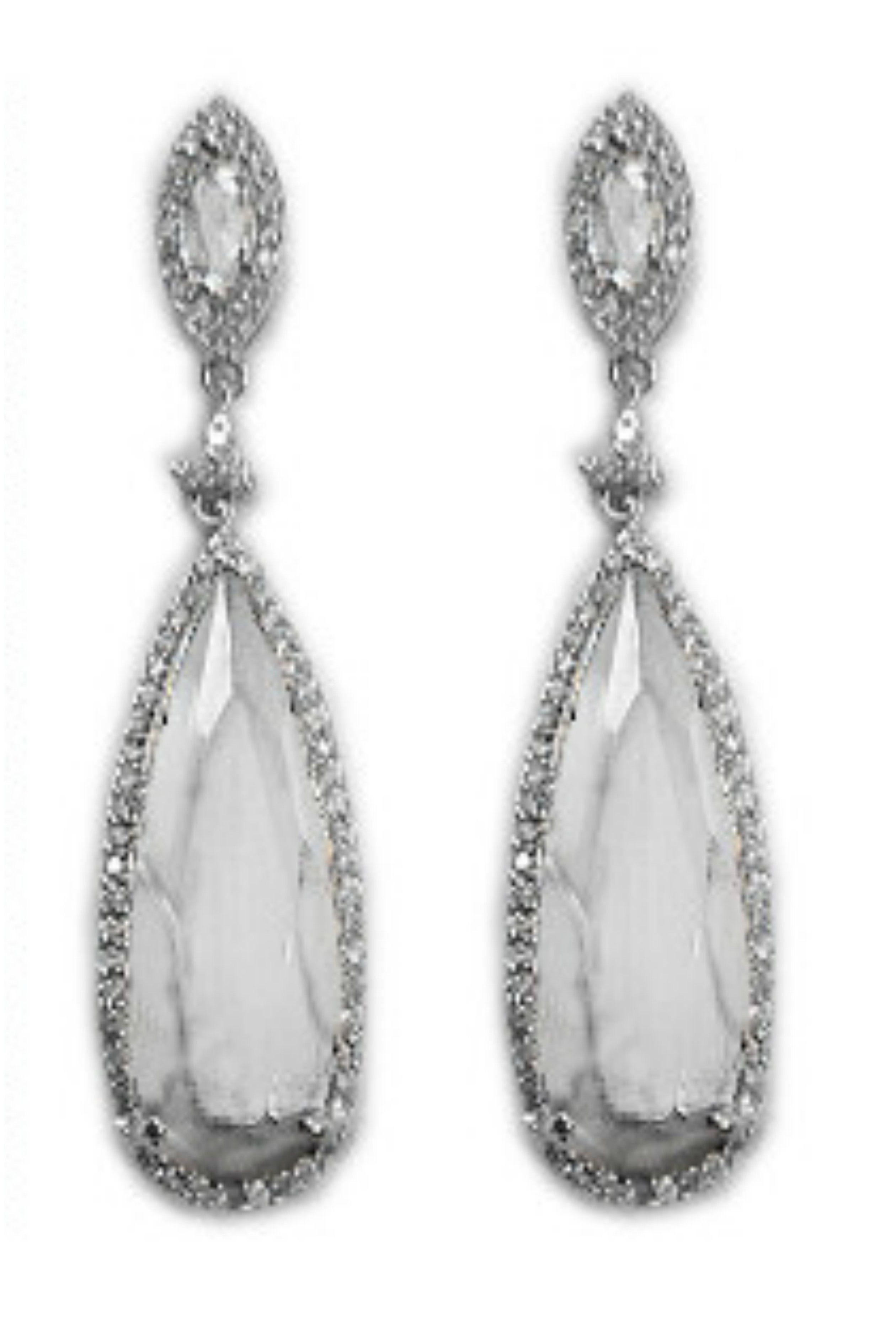 Cadena long dangle chandelier earrings cubic zirconia silver cadena long dangle chandelier earrings cubic zirconia silver arubaitofo Choice Image