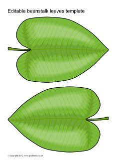 editable beanstalk leaves template vincents 3rd bday jack and the