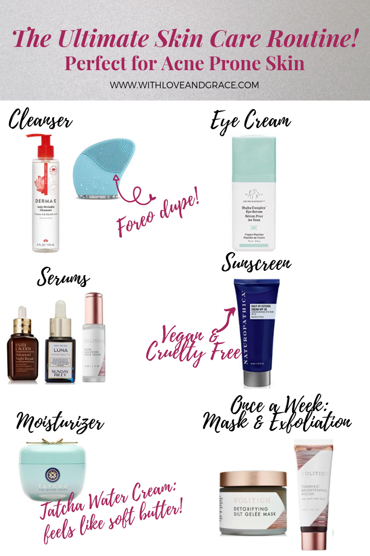 The Ultimate Skincare Routine Perfect For Acne Prone Skin Acne Prone Skin Skin Care Routine Skin Care