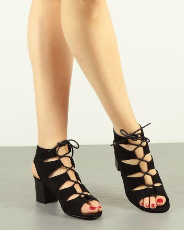 Fit Sandalia De Tacón Ancho Zapatos Con Romana CordónOut QCBWdxroeE