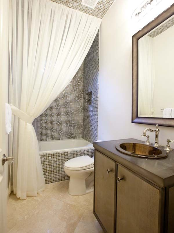 Bathroom | Bathroom tiling, Curtain ties and Backsplash ideas
