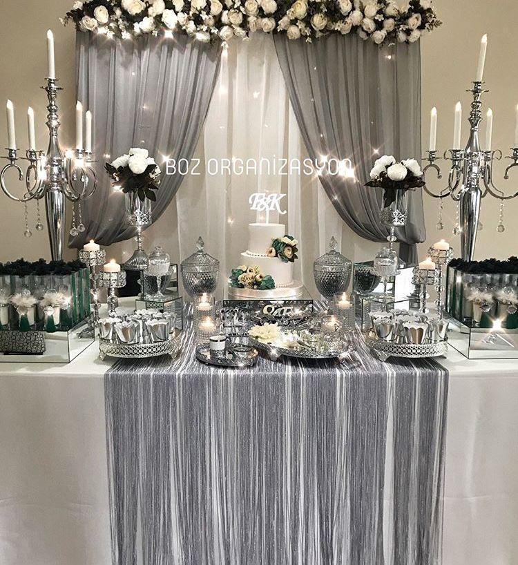 25th Wedding Anniversary Decoration Ideas: Hatice Adlı Kullanıcının Nişan Panosundaki Pin, 2019