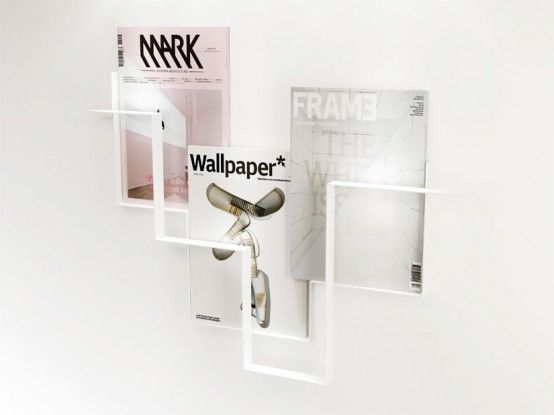 minimalist magazine holder for walls made of metal u2013 guidelines by frederik roije