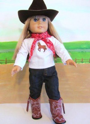 9e082d9bb Cowgirl Western Outfit ~18 Inch Doll Clothes For American Girl HAT ...