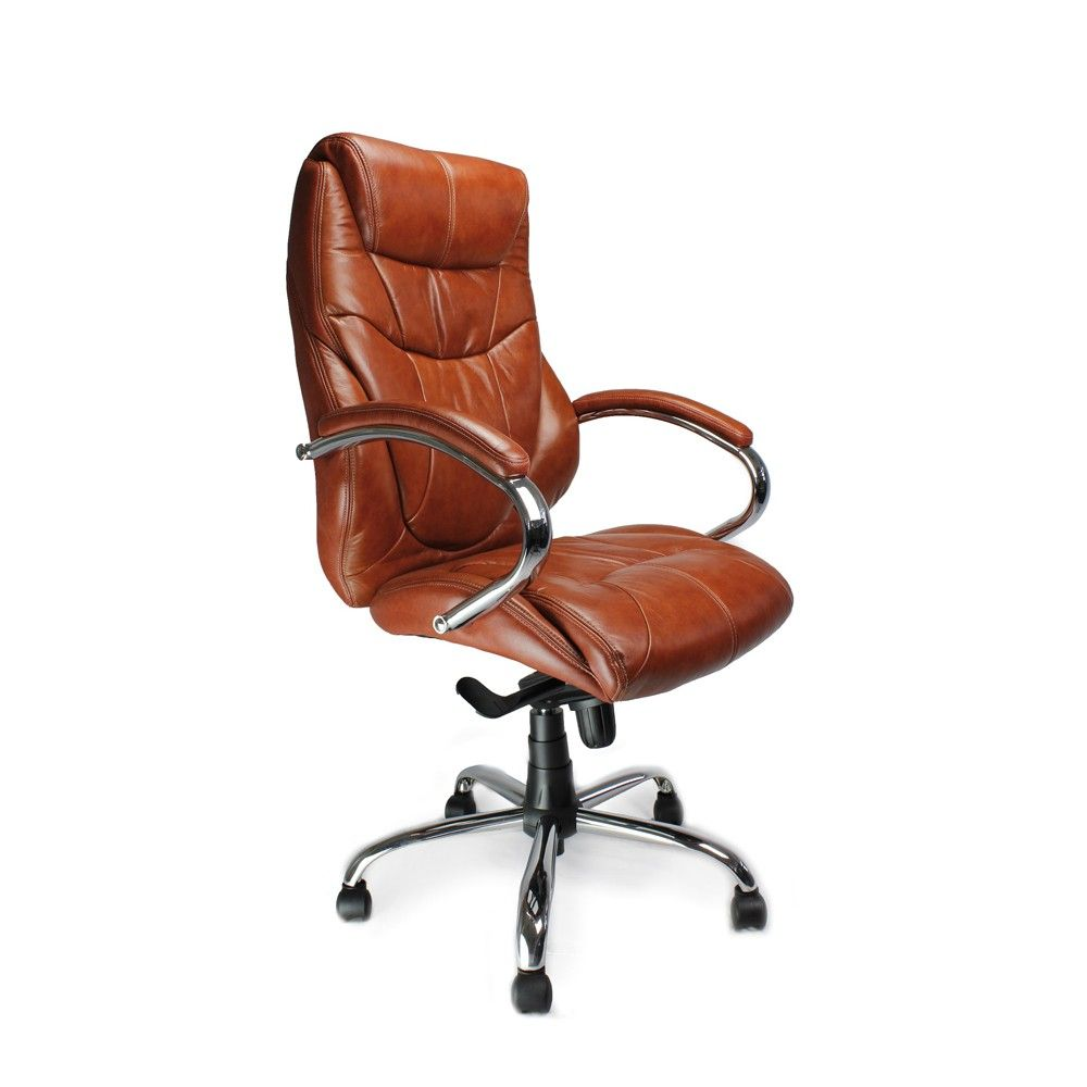 Tan leather office chair - Eliza Tinsley Sandown Tan Leather Faced High Back Executive Office Chair