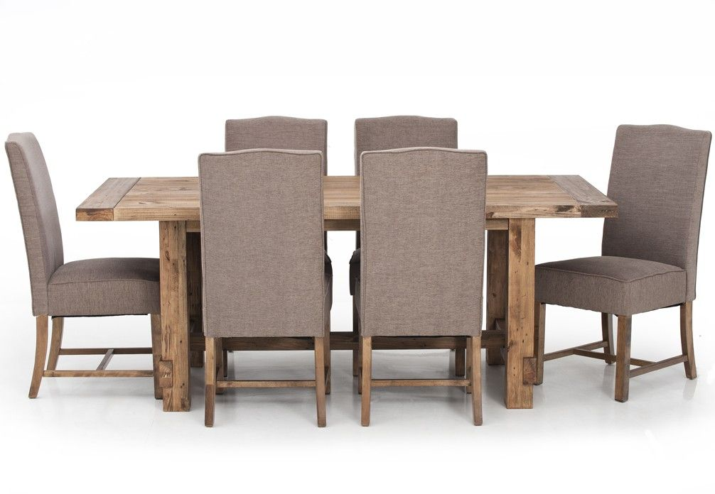 Industrial Edginess Meets Farmhouse Style And Appeal In The Practical And  Stunning Industrial 7 Piece Dining Suite. Featuring A Reclaimed And  Weathered Pine ...