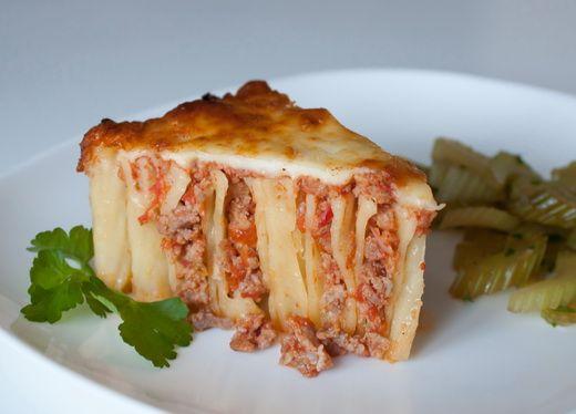 Пошаговый фото-рецепт макаронного пирога-запеканки с мясом ...