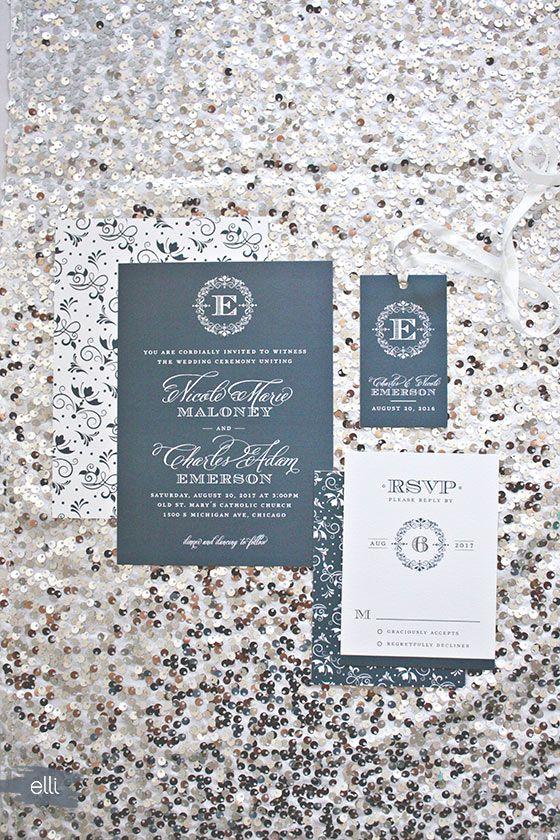 Classic Wedding Invitation Designs By Elizabeth Victoria