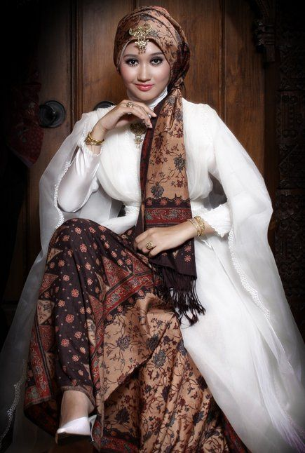 Model Baju Batik Muslim Modern  Model  Busana Pinterest