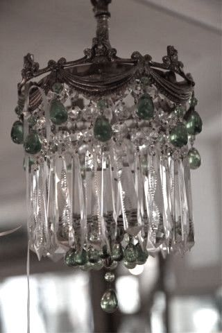 Antique Crystal Chandelier Light Waterford Style Vintage Rewired
