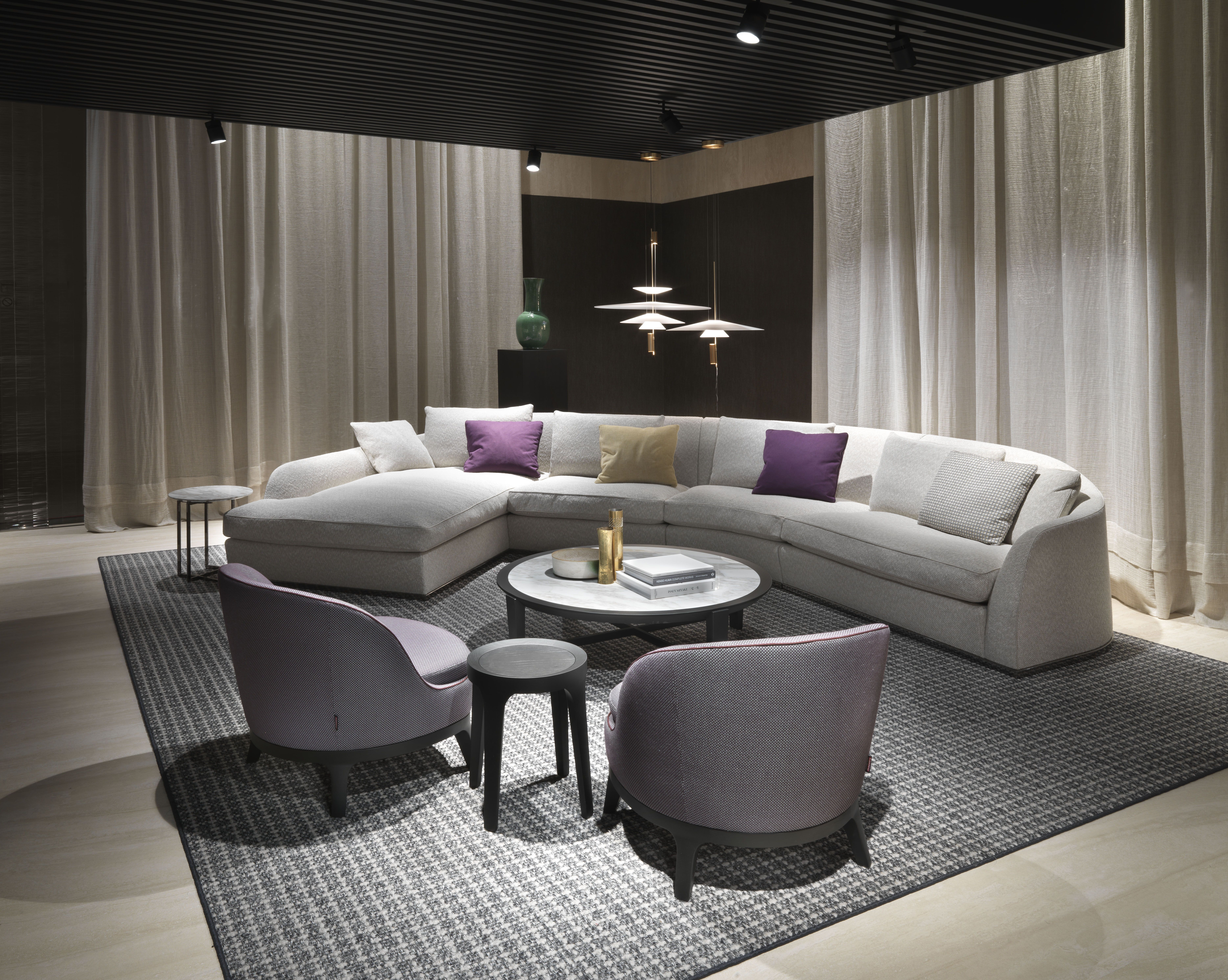 flexform mood alfred sectional sofa and dragonfly armchairs rh pinterest com