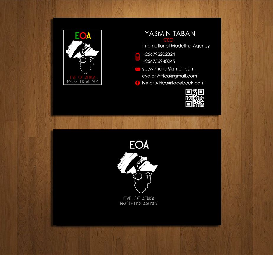 Eye of Africa Modeling Agency Business card print | Eye of Africa ...