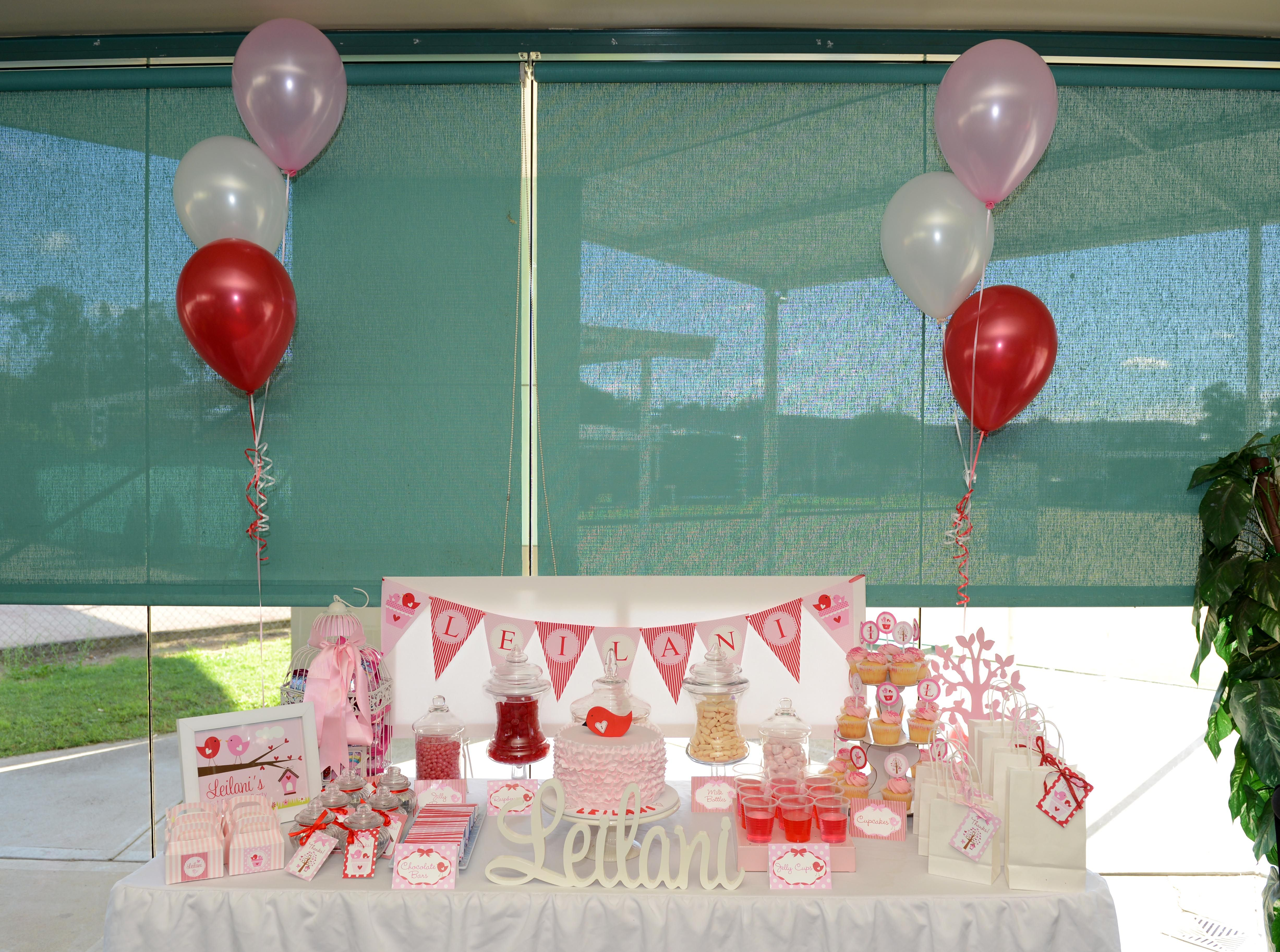 My daughters 1st birthday love tree candy buffet