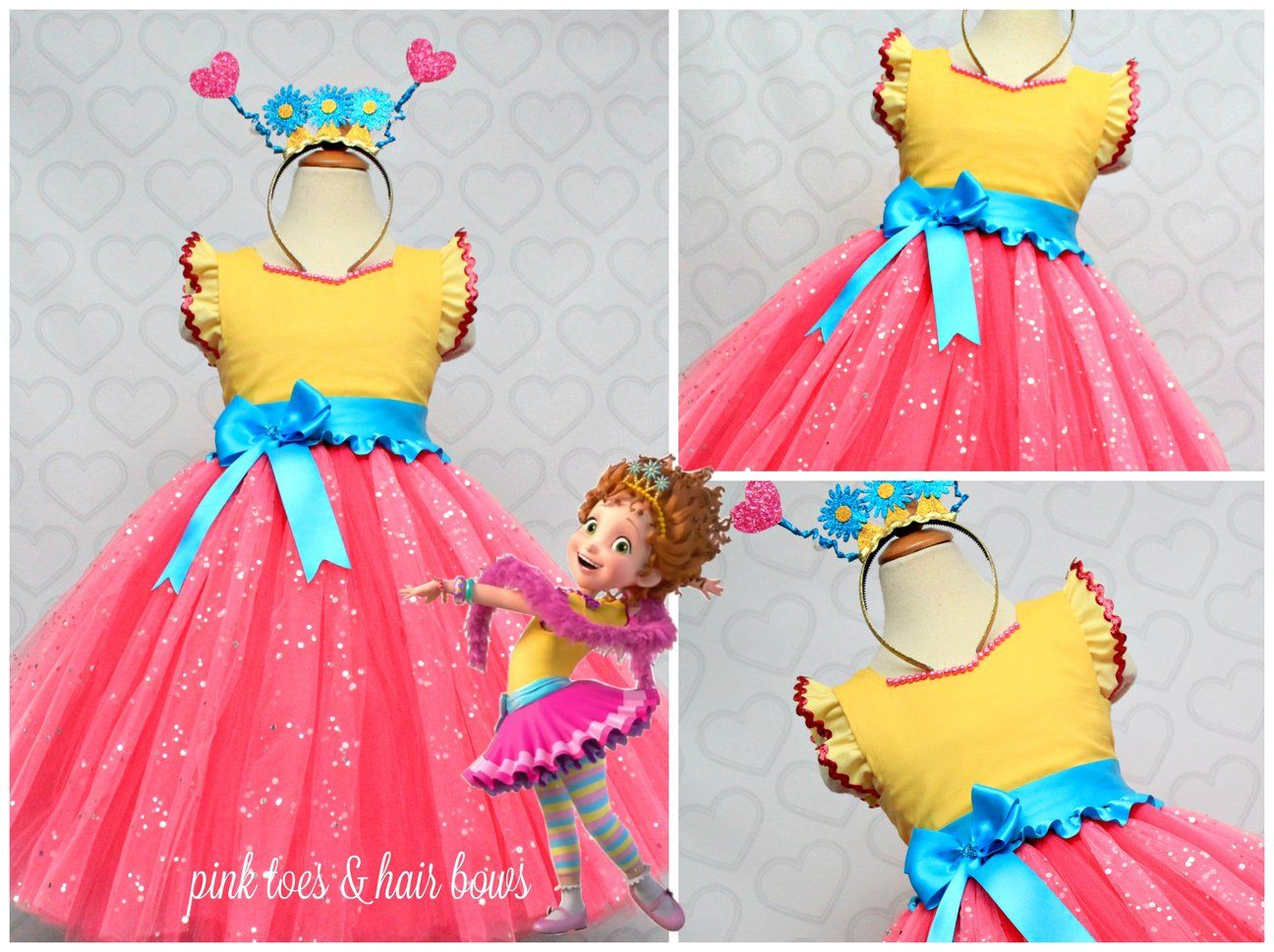 512c370335e68 Our Fancy nancy tutu dress is so adorable and perfect for your little one!  This dress is embellished with custom handmade accents,ruffles,trim and  more!