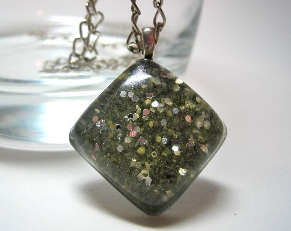 Yellow Sugar and Silver Glitter Diamond Resin by ExperienceDesigns, $8.00