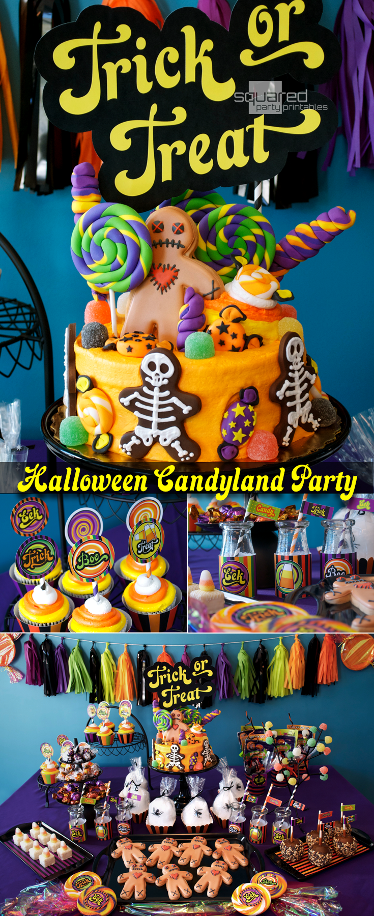 halloween candy land party printables. available as an instant