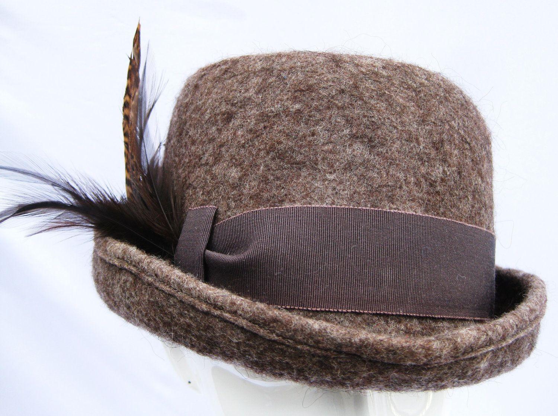 Mens hat natural handmade alpaca felt funky by SwanandStone.  225.00 ... 62494788627