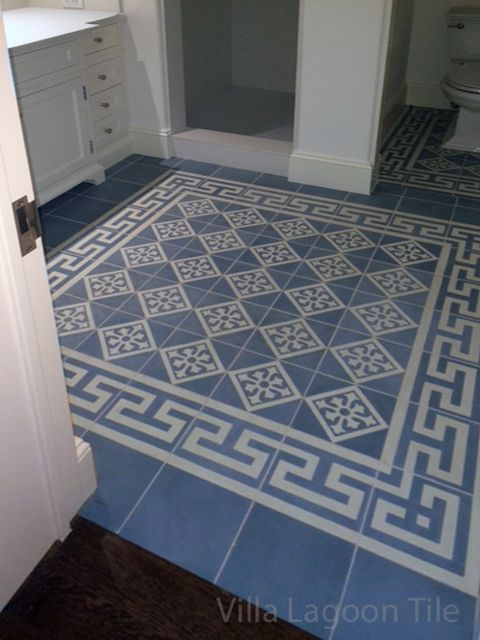 Beautiful Blue And Gray Cement Tile From Villa Lagoon Tile
