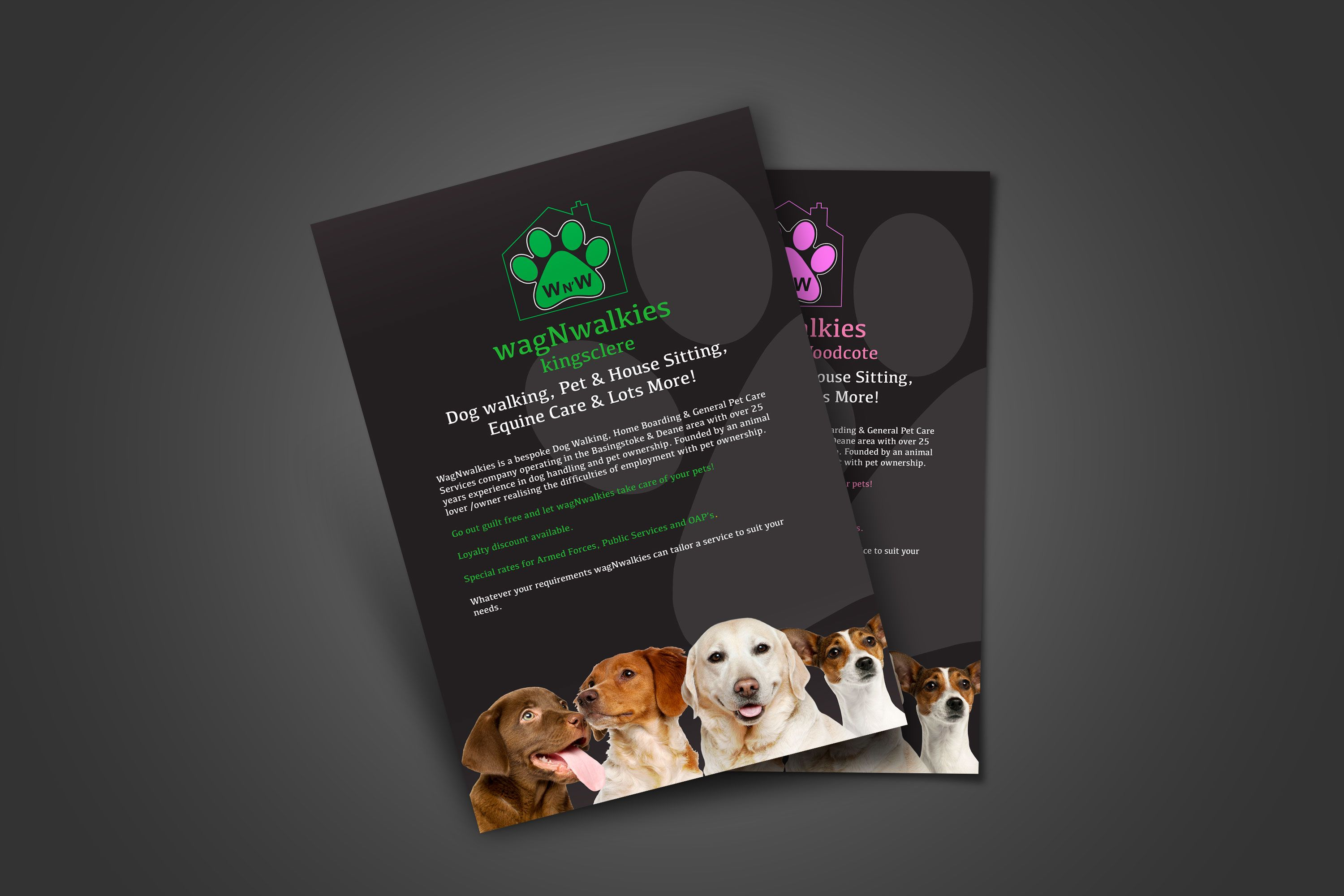 Wagnwalkies Flyer Design Marketing Collateral