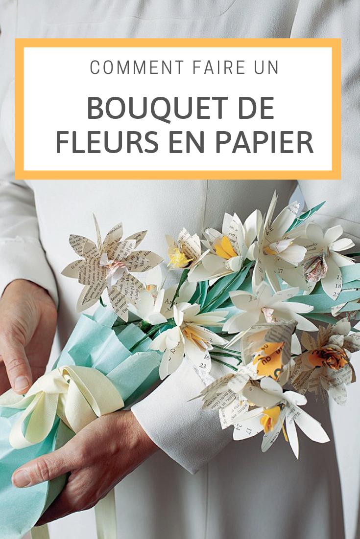 Comment Faire Un Bouquet De Roses un bouquet de fleurs en papier recyclé | bouquets de fleurs