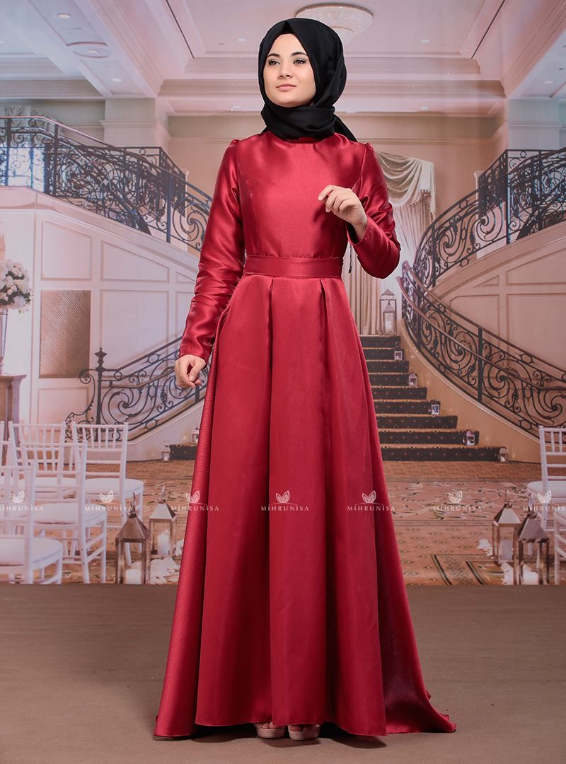 Ayzade Abiye Elbise Bordo Sumay Elbise Moda Stilleri Elbise Modelleri