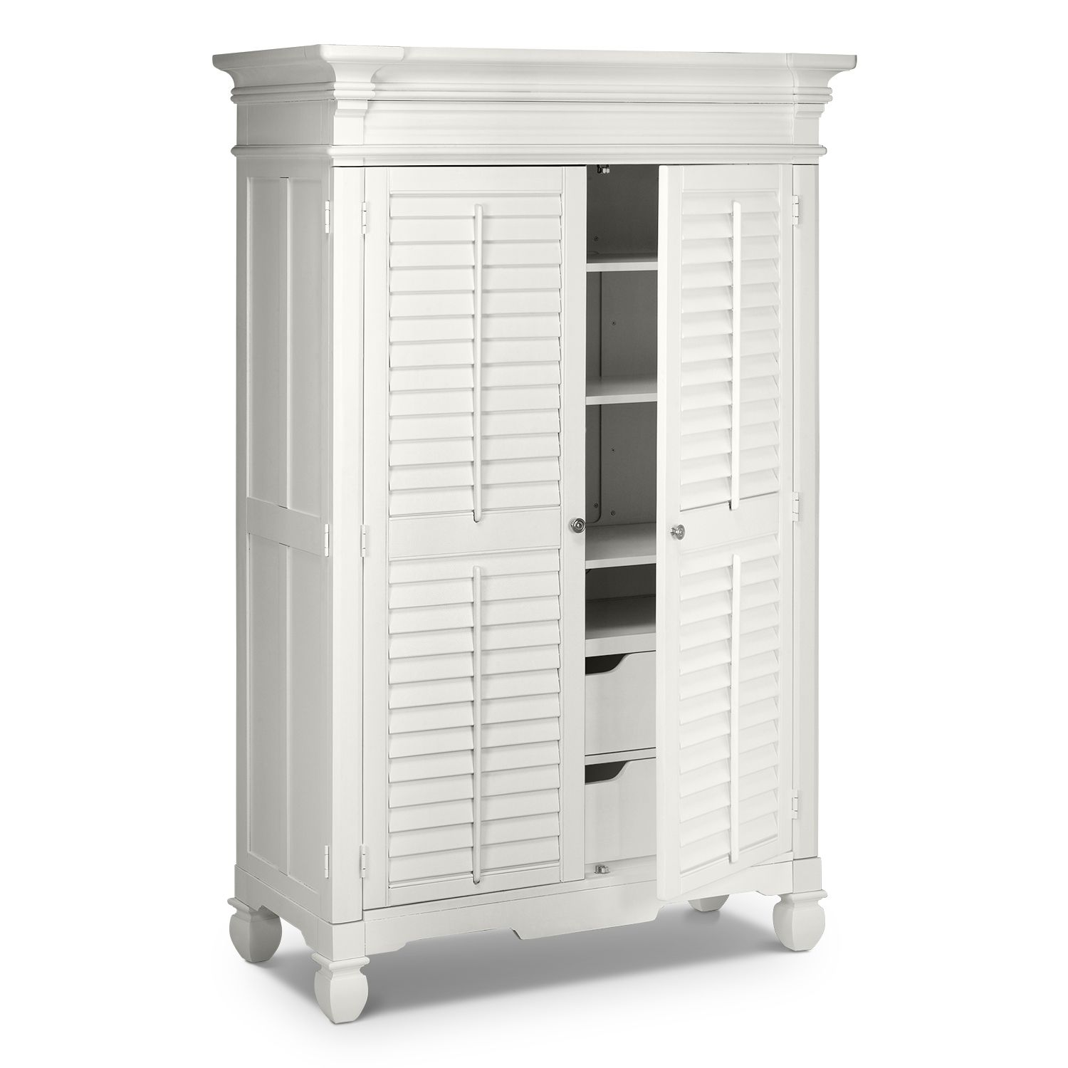 Plantation Cove White Bedroom Armoire Value City Furniture