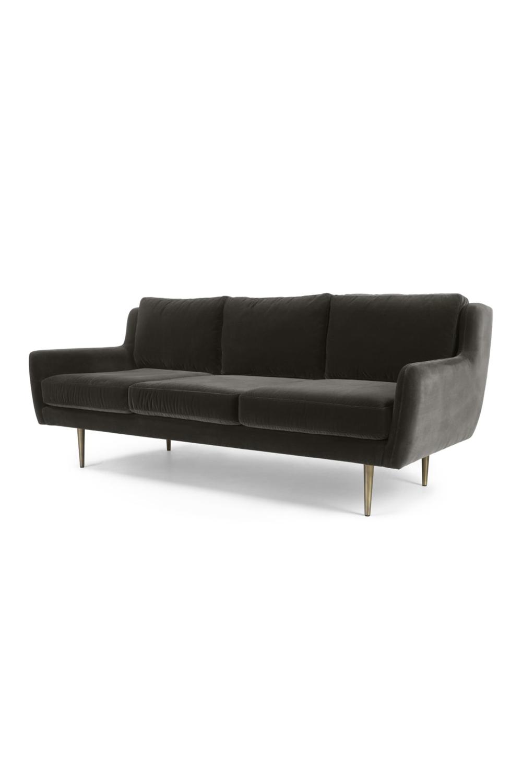Simone 3 Sitzer Sofa Samt In Betongrau Sofa Furniture Couch