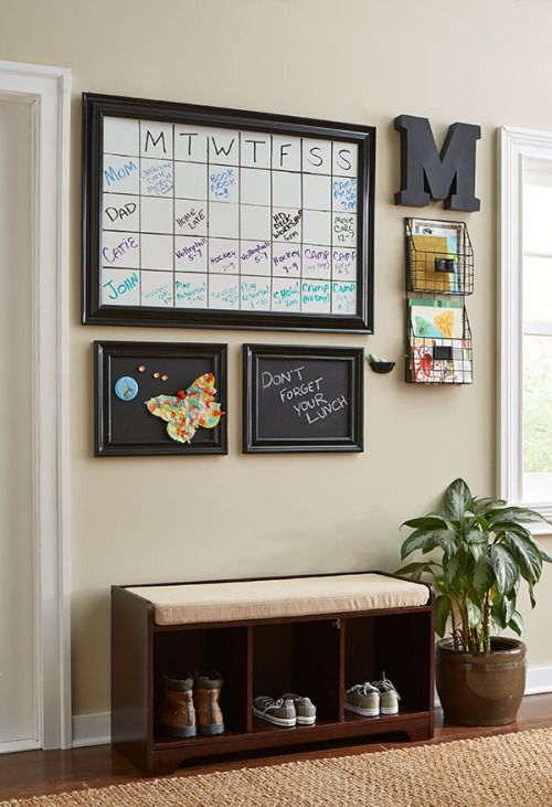 Paint A Family Message Board On Your Wall Curvibes Curlycoveting Command Centerscommand Center Kitchenkitchen