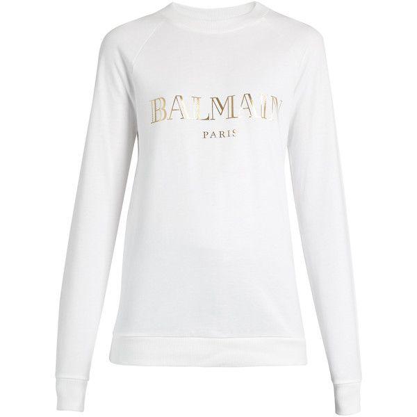 Explore Cheap Price Buy Cheap Fashion Style Logo-print cotton sweatshirt Balmain fLLiG