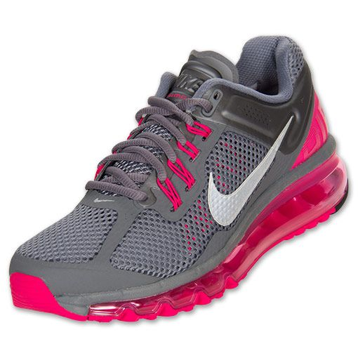 Women's Nike Air Max+ 2013 Running Shoes | FinishLine.com | Cool Grey/Pink Force/Wolf Grey #nikefreeoutfit