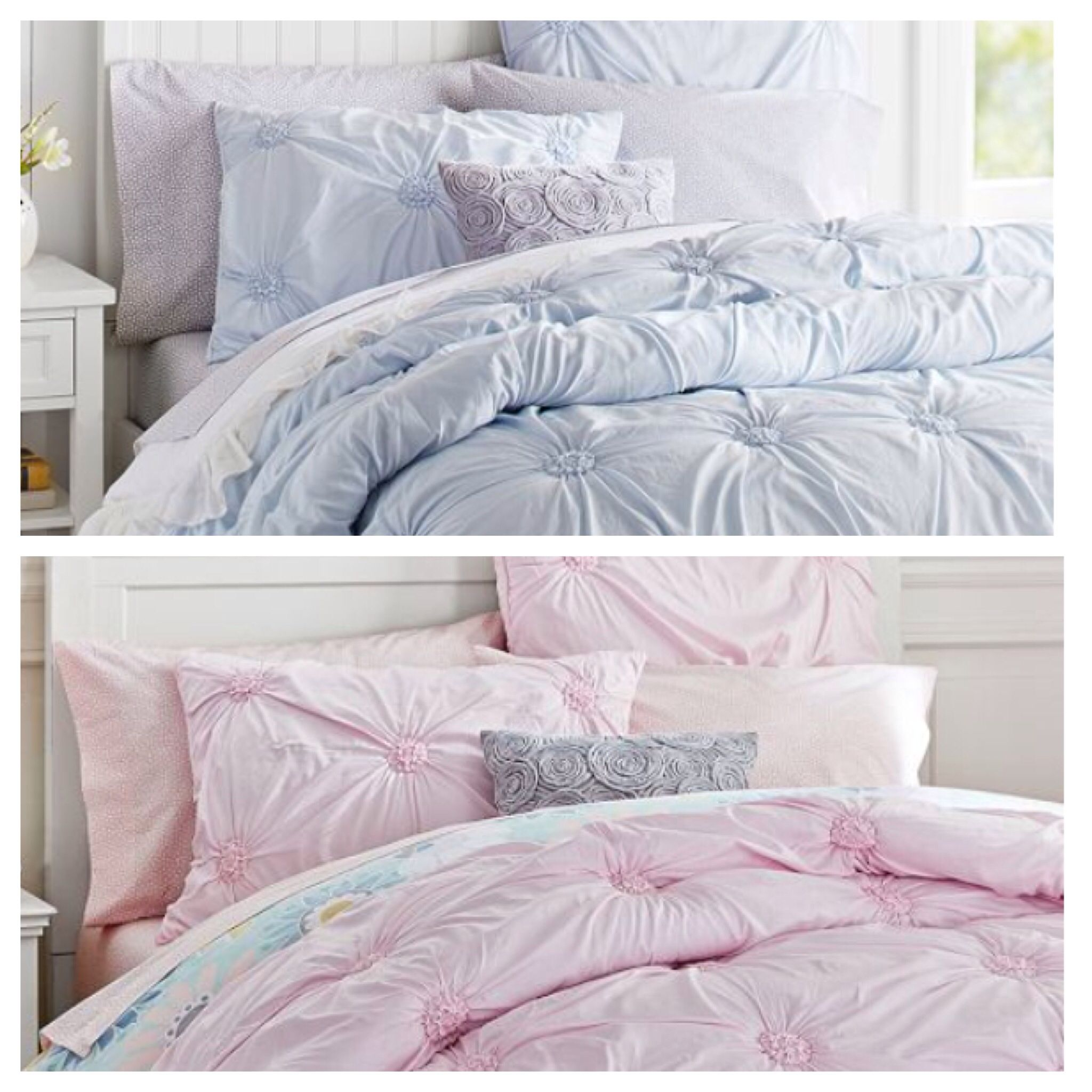 PB Love - bedding in frost blue or blush