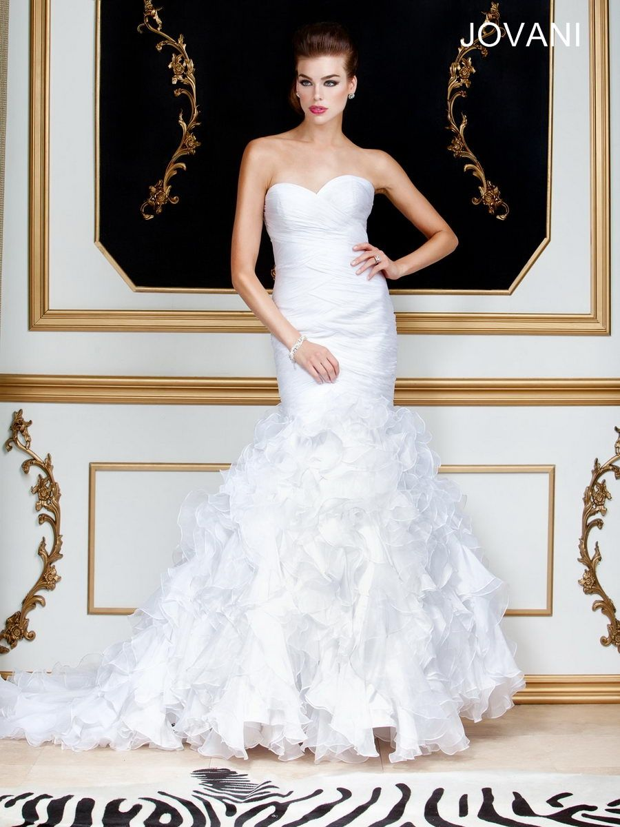 Mermaid ruffle wedding dress  Ruffle Wedding Gown Style JB  Cool stuff to buy  Pinterest