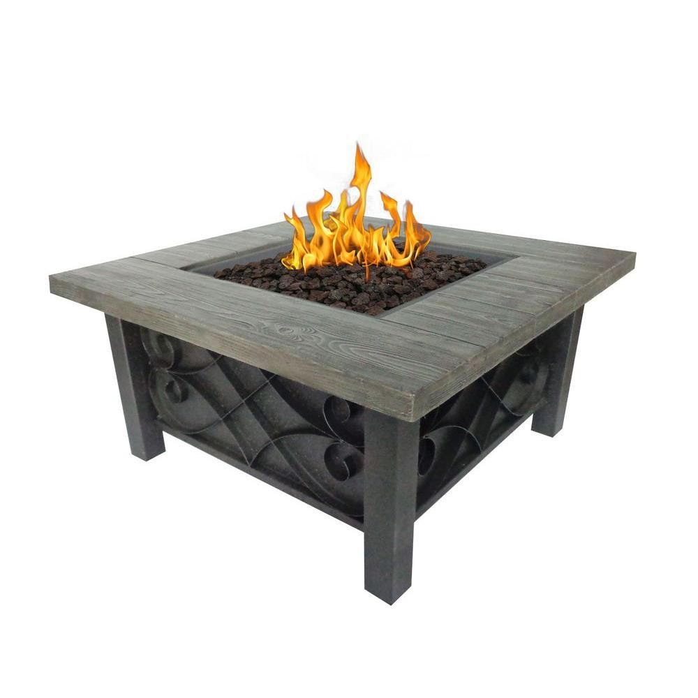 Bond Manufacturing Marbella 34 In Square Stainless Steel Propane Fire Pit 67531 At The Home Depot Stainless Steel Fire Pit Propane Fire Pit Fire Pit