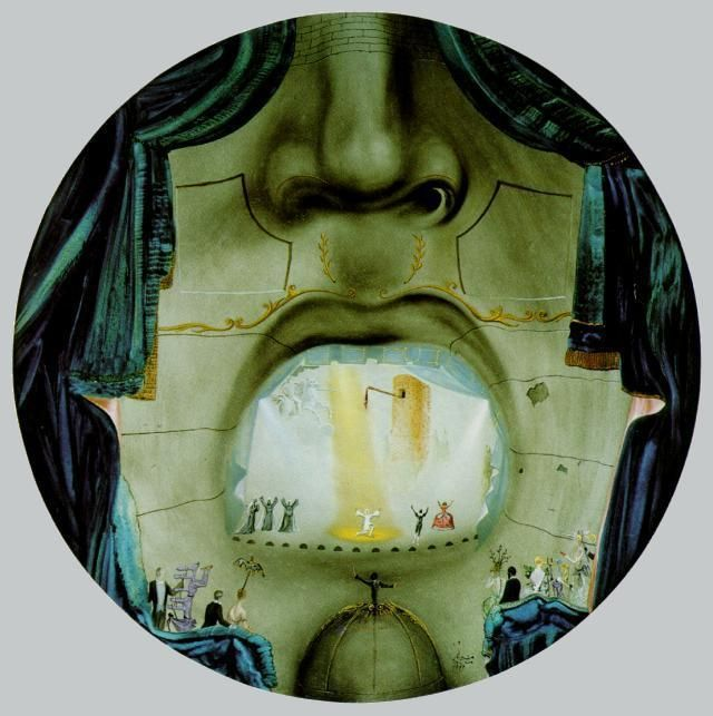 """Das Grand Opera"", 1957 von Salvador Dali (1904-1989, Spain)"