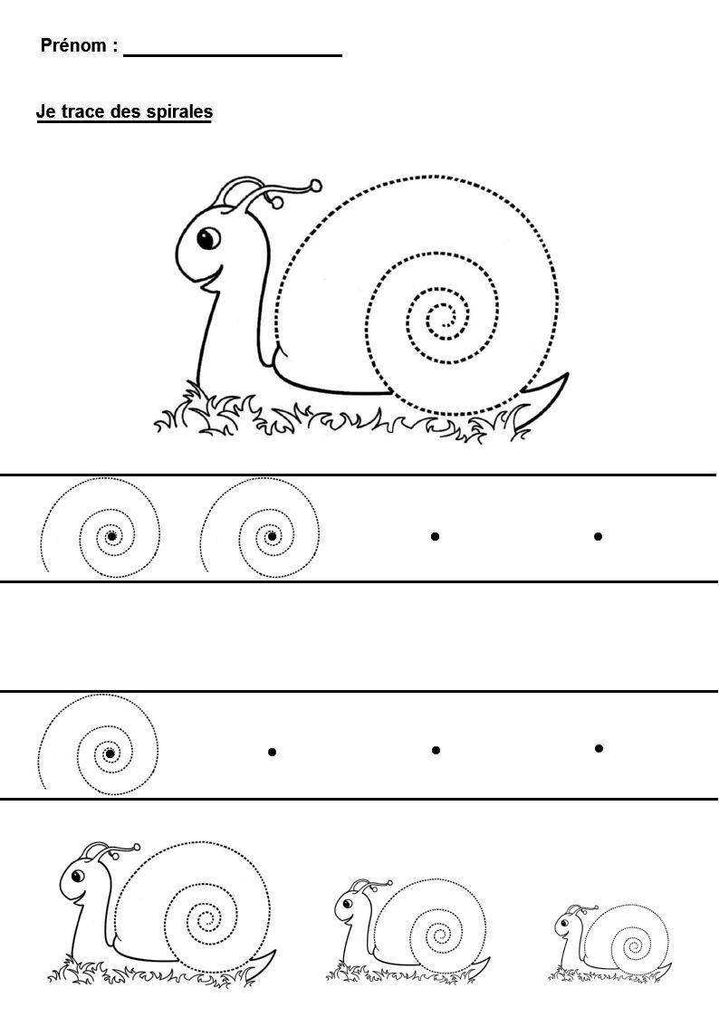 Graphisme en maternelle tracer des spirales graphisme - Escargot maternelle ...