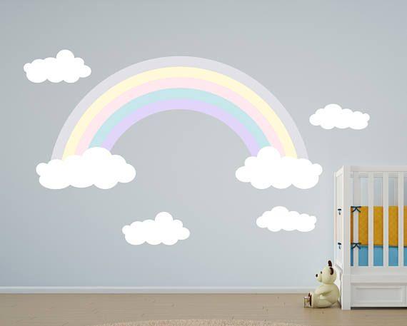 rainbow wall decals - girls rainbow decals - kids room decal