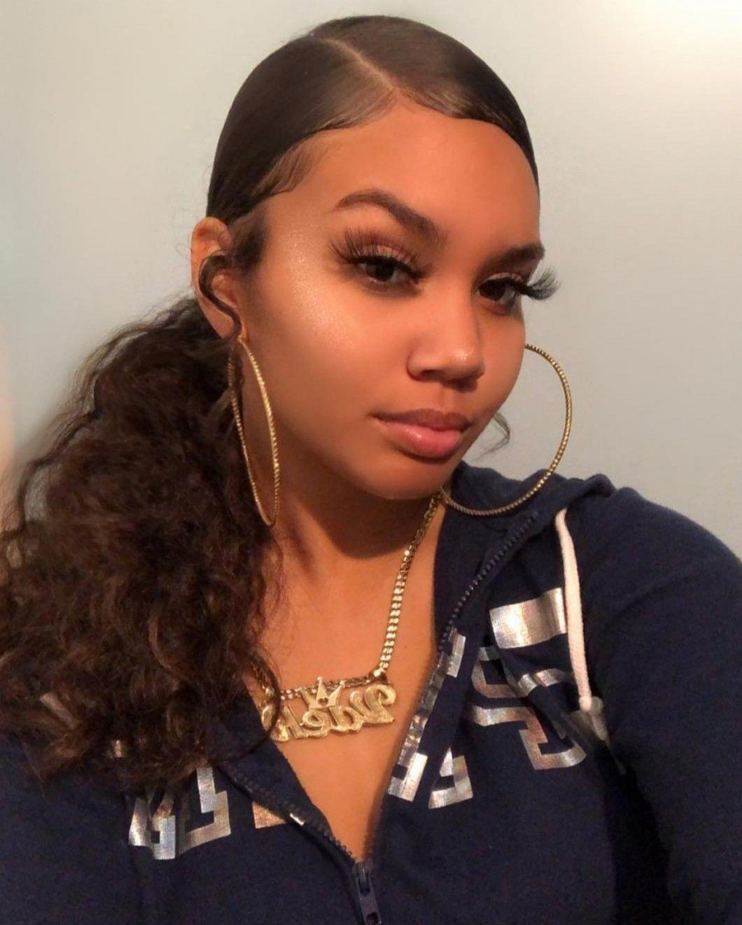 Black Women S Makeup Eyes Blackwomensmakeup Baddie Hairstyles Natural Hair Styles Slick Hairstyles