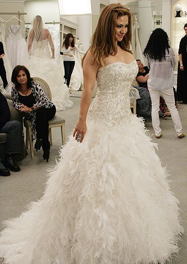 Feather Wedding Dress Say Yes To The Dress