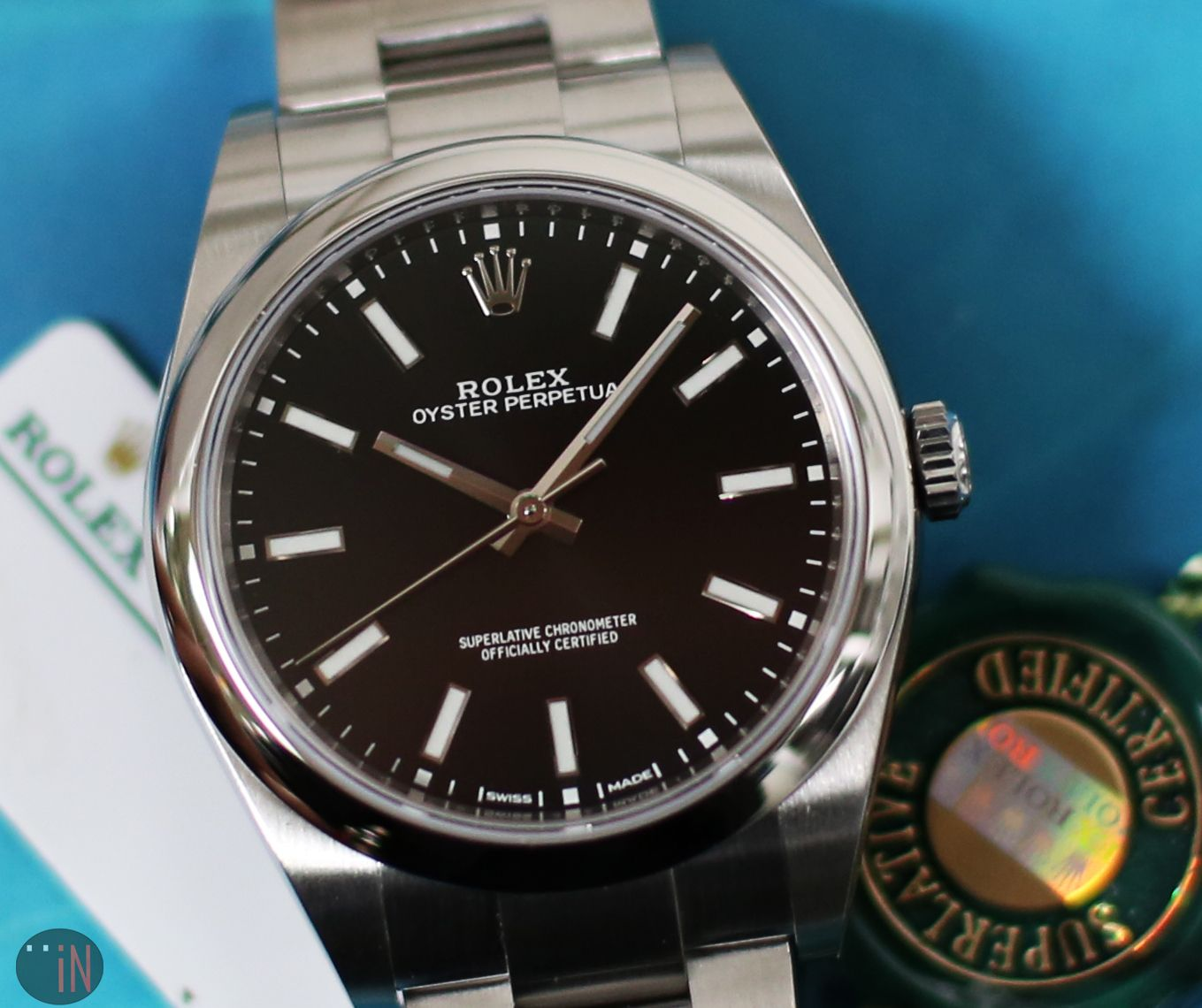 Effective Simplicity Rolex 34mm Oyster Perpetual No Date Ref 114200 Stainless Steel Black Dial Http Www Elementin Rolex Oyster Rolex Oyster Perpetual