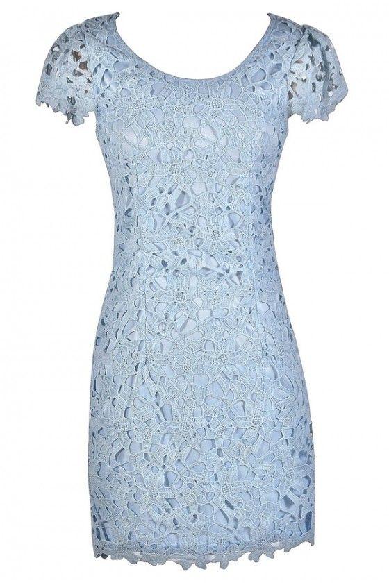 Sky Blue Lace Dress