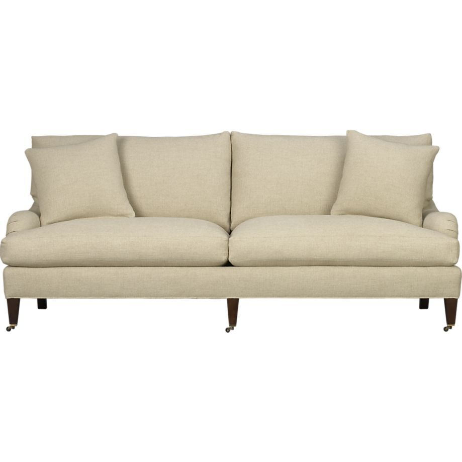 Superbe Essex Sofa With Casters | Crate And Barrel