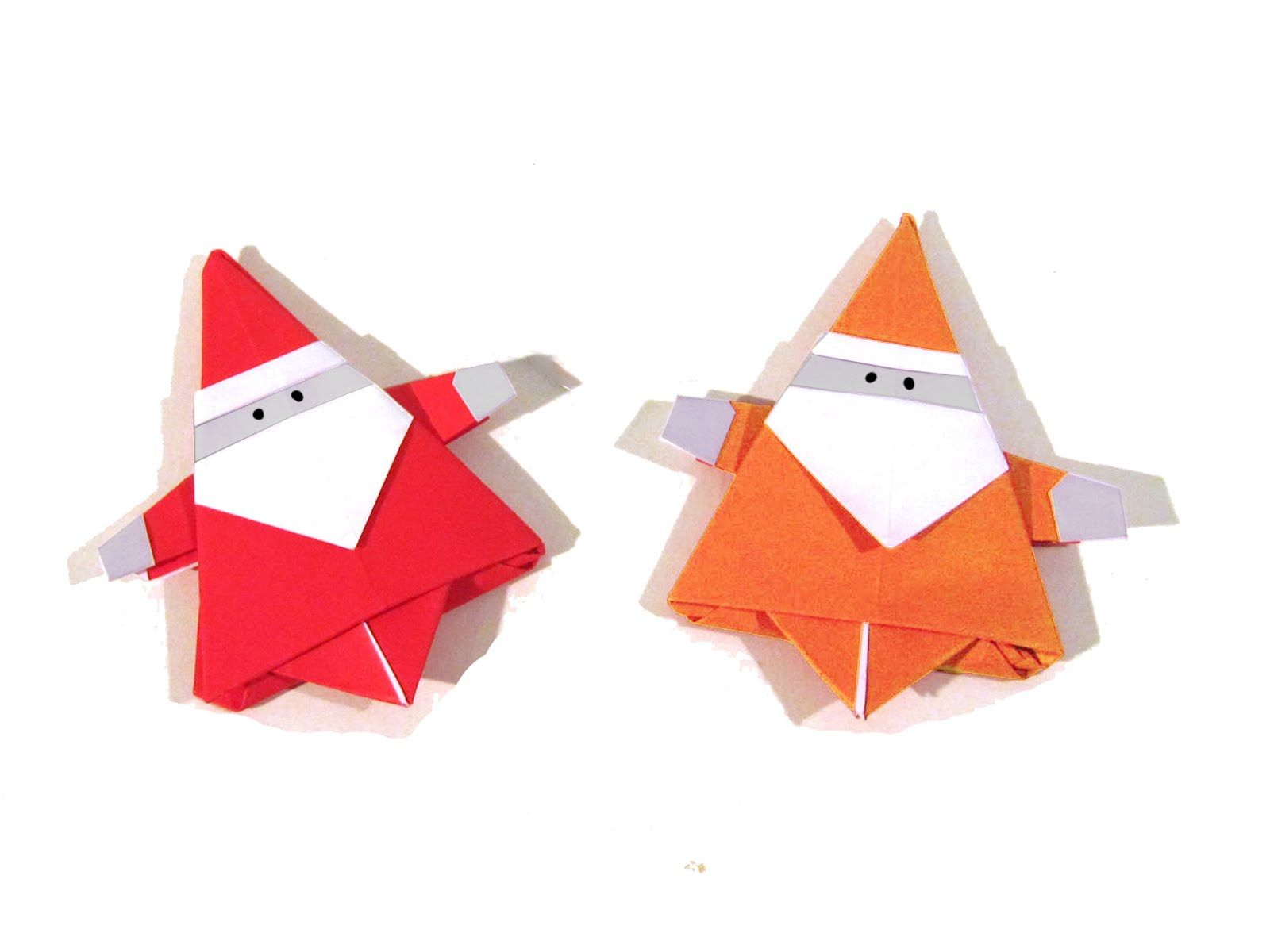 Christmas Origami Santa Claus How To Make An Easy Diagrams