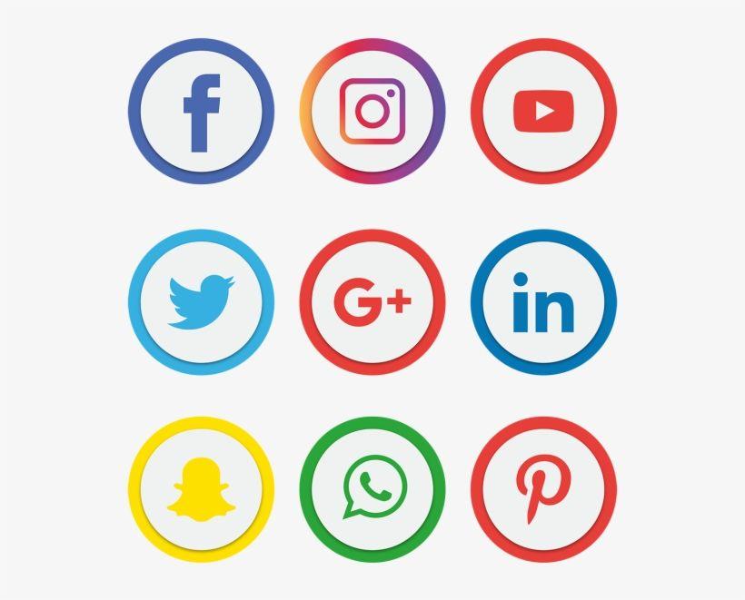 Social Media Icons Set Facebook Instagram Whatsapp Png Free Social Media Icons Free Social Media Icons Facebook Icons