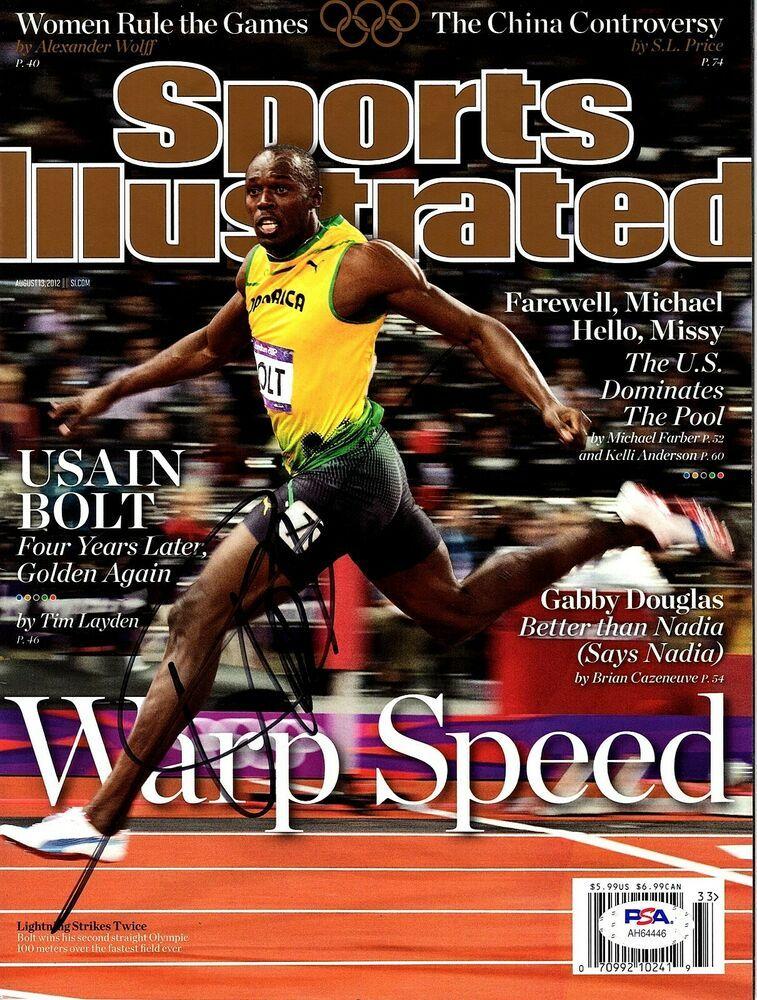 USAIN BOLT Signed Autographed Sports Illustrated Magazine ...