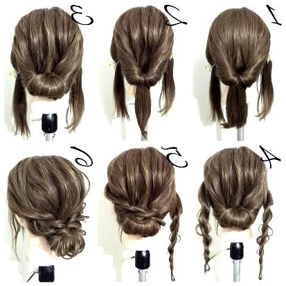 21 Super Easy Updos For Beginners Beginners Easy Super Updos Hair Lengths Hair Styles Medium Length Hair Styles