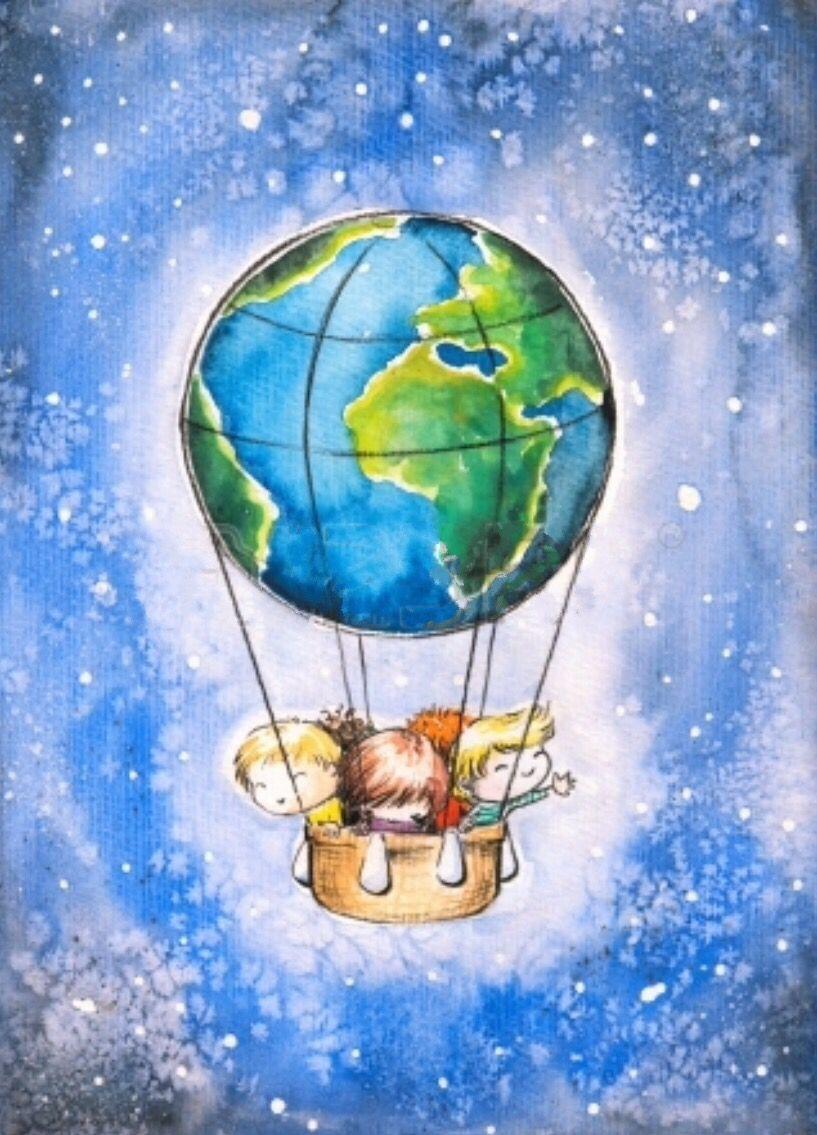 Planeta Tierra Imagenes Resumen E Informacion Para Ninos Dibujo De Globo Aerostatico Planeta Tierra La Tierra Dibujo
