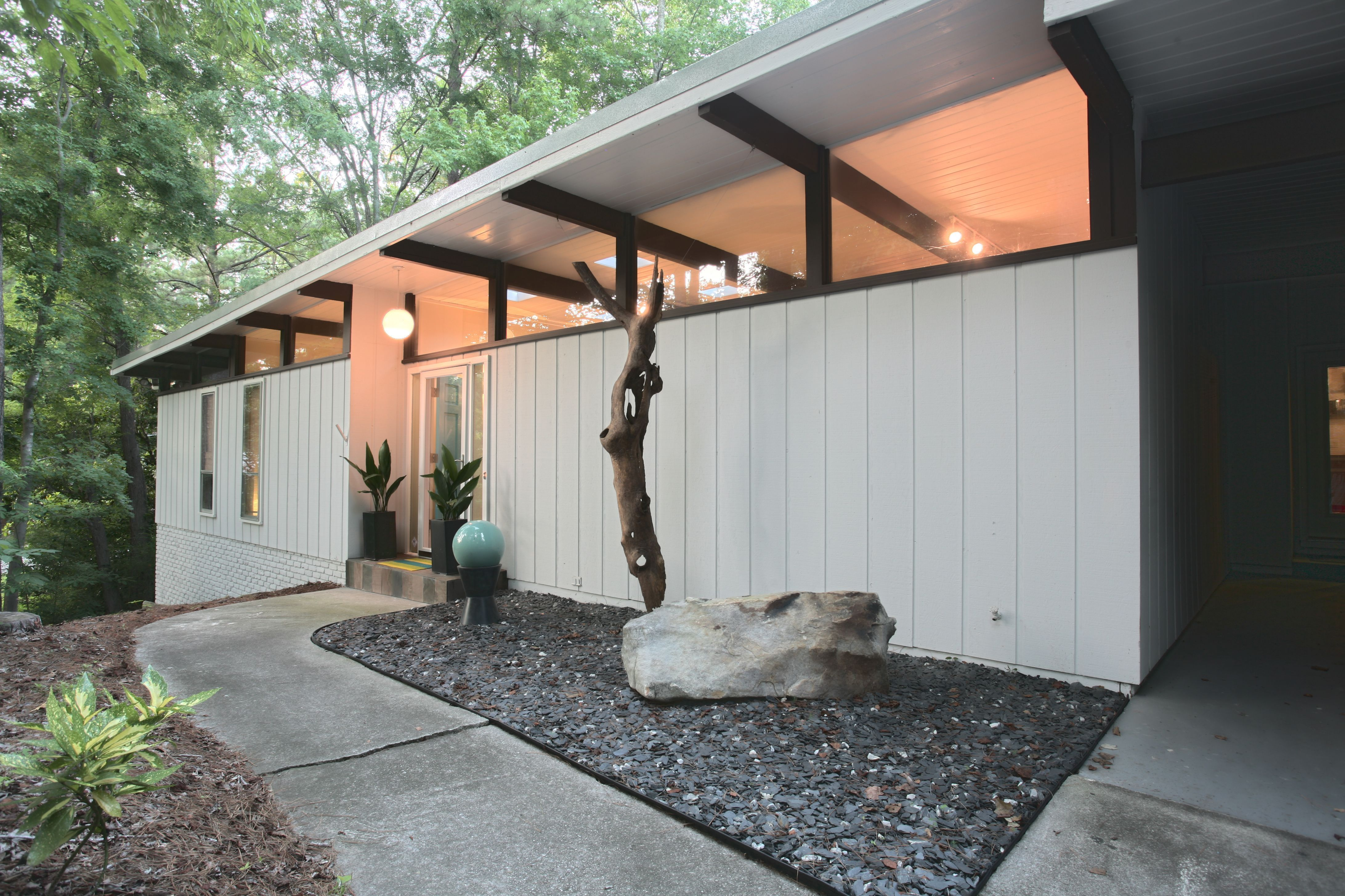 Painting Mid Century Modern Home Exterior Paint Colors Backyard