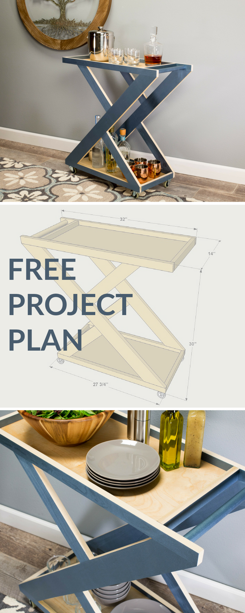 cutting diagram tools and materials list on buildsomething com build a stylish diy bar cart from a few poplar boards a piece of plywood [ 800 x 2000 Pixel ]